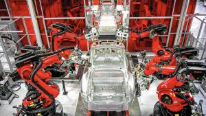 Tesla çin fabrika