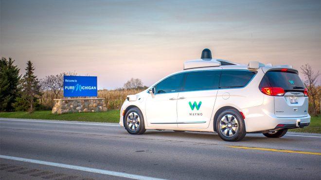 Waymo otonom araç kış testi