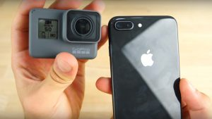 GoPro Hero 6 Black ve iPhone 8 Plus