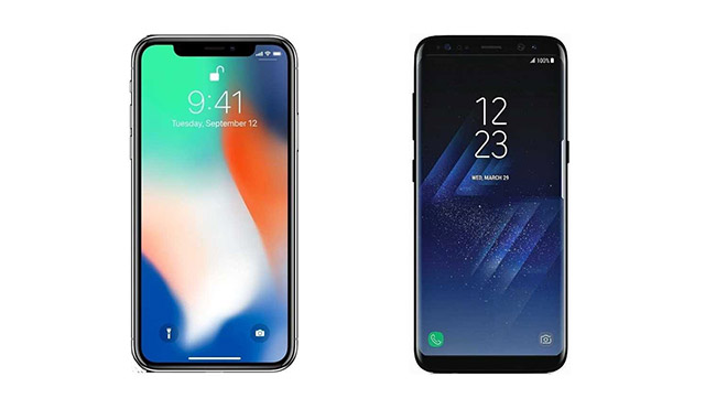 iPhone X ve Galaxy S8