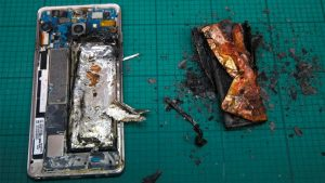 exploded battery