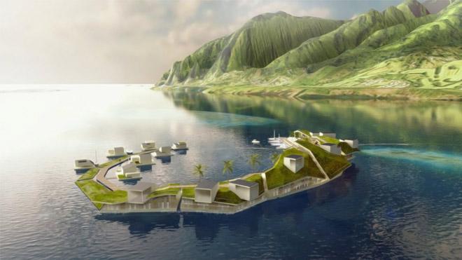 """Dünyanın ilk """"yüzen şehri""""nin tasarımı hayranlık uyandırıyor"""