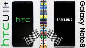 HTC U11+ ve Samsung Galaxy Note 8 hız testi