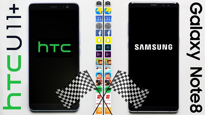 HTC U11+ ve Samsung Galaxy Note 8 hız testi