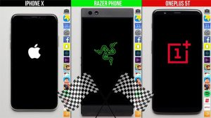 iPhone X Razer Phone OnePlus 5T