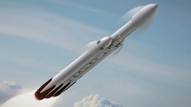 SpaceX Tesla Roadster Elon Musk Mars Falcon Heavy