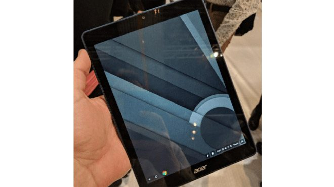 Google Chrome OS Acer tablet