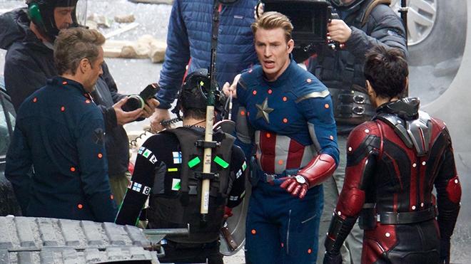 Resultado de imagem para set de filmagens de guerra infinita capitão america