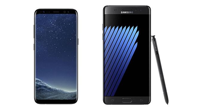 Samsung Galaxy Note 8 pil sorunu Galaxy S8