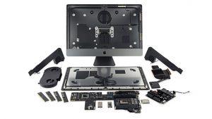 Apple iMac Pro iFixit içini açma