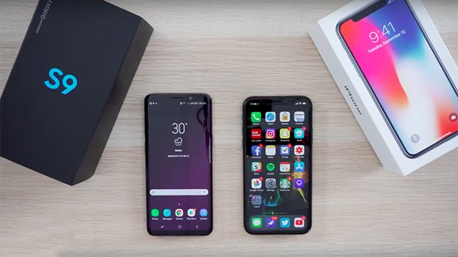 Samsung Galaxy S9 vs. iPhone X