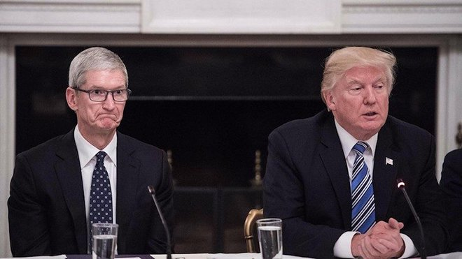 tim cook ve donald trump
