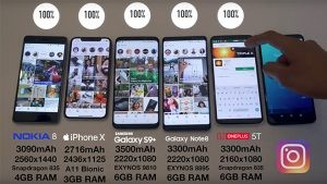 samsung galaxy s9 ve iphone X