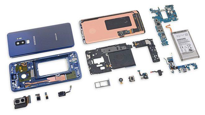 Samsung Galaxy S9 ve Galaxy S9+ iFixit