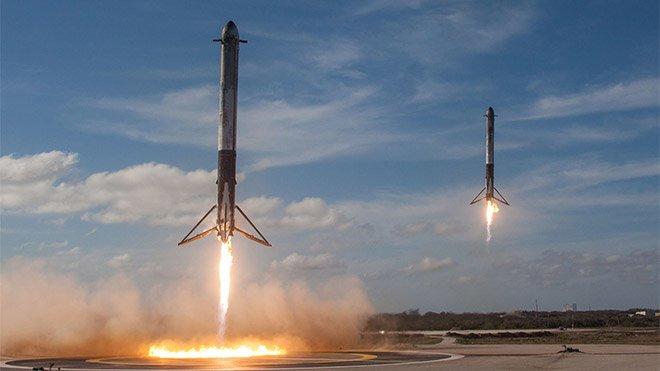 SpaceX Falcon Heavy Westworld