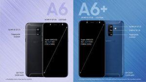 Samsung Galaxy A6 ve Galaxy A6+