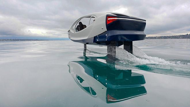 Tamamen elektrikli deniz taksisi SeaBubbles su üstüne test seferlerine başladı