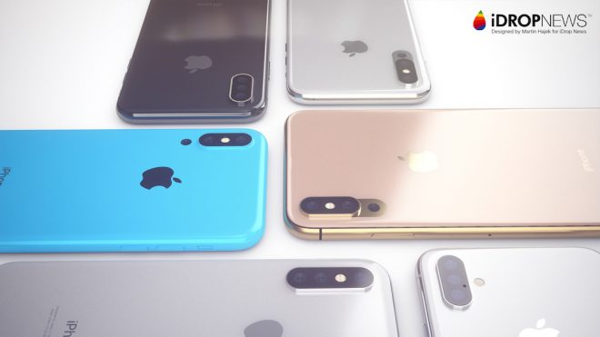 Üç arka kameralı Apple iPhone