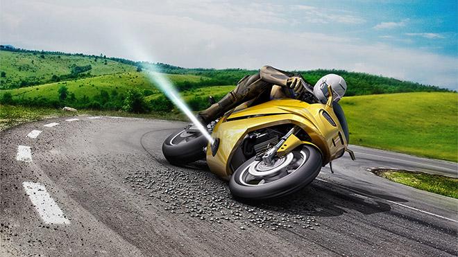 """Bosch'tan motosikletlere bir """"jet itici"""" ekleyen çok ilginç güvenlik sistemi"""