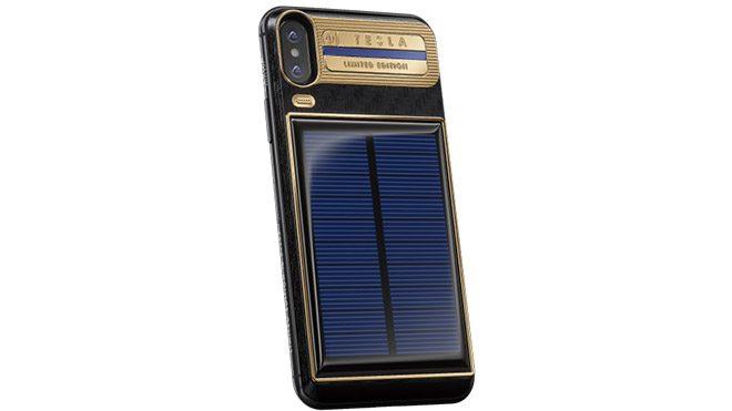 Caviar iPhone X Tesla