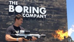 Elon Musk Not a Flamethrower Boring Company