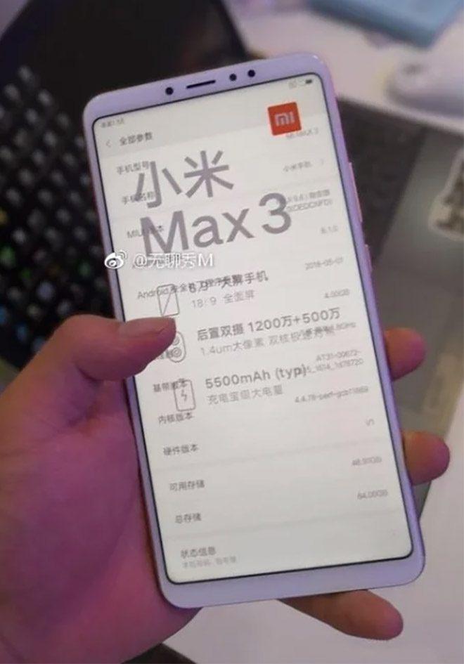 Dev Model Xiaomi Mi Max 3ten Yeni Bilgiler Veren Gorsel