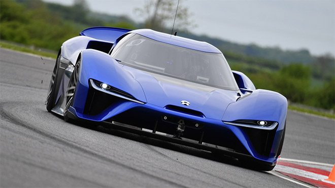 Nio EP9, VW I.D. R, Goodwood