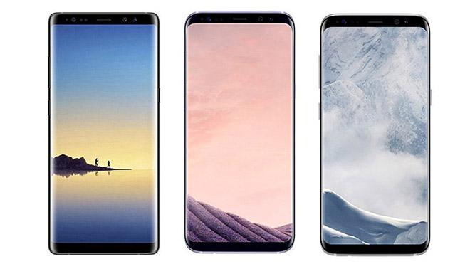 Samsung Galaxy S8, Galaxy S8 Plus, ve Galaxy Note 8
