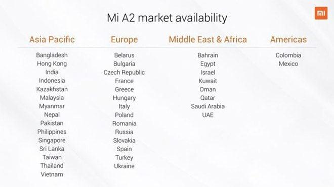 Xiaomi Mi A2 ve Mi A2 Lite
