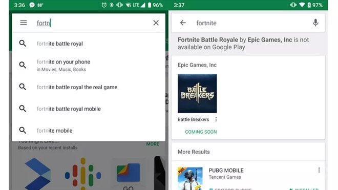 fortnite google