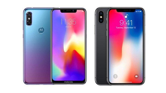 Motorola P30 iPhone X Huawei P20 Pro