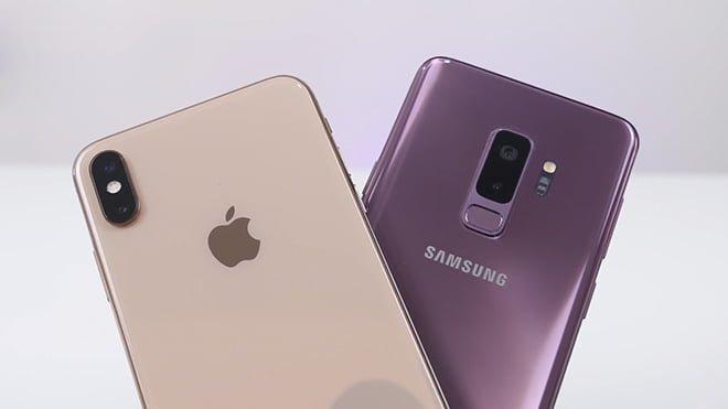 iPhone Xs Max ve Samsung Galaxy S9 Plus