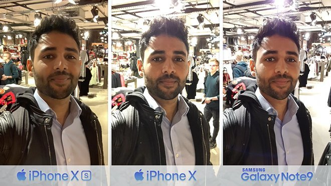 iPhone XS, iPhone X ve Samsung Note 9