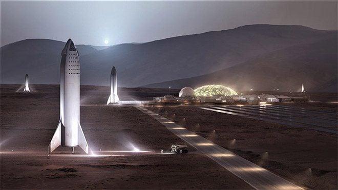 SpaceX BFR Elon Musk Mars Ay