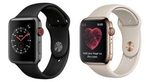 Apple Watch Series 3 ve Watch Series 4