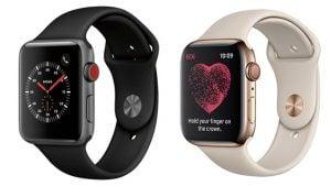 Apple Watch Series 3 ve Watch Series 4