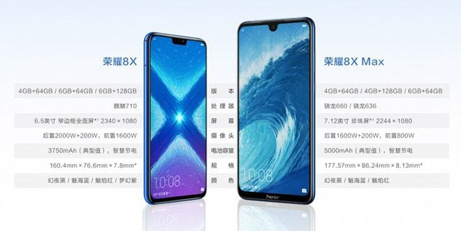 Honor 8X ve Honor 8X Max