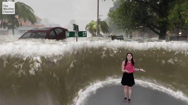 The Weather Channel artırılmış gerçeklik