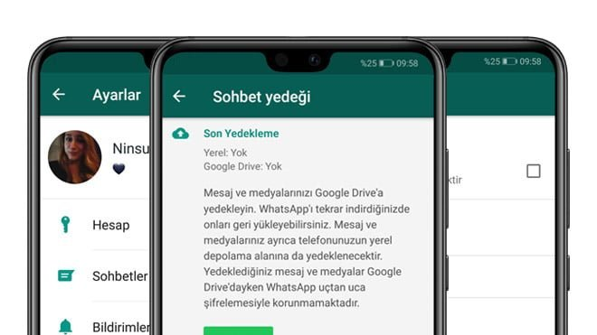 whatsapp sohbet yedeği silme iphone