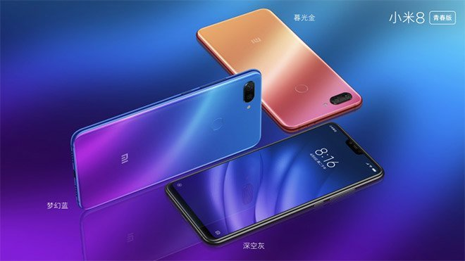 Xiaomi Mi 8 Screen Fingerprint Edition, Mi 8 Youth Edition