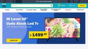 A101 çevrimiçi satış mağazası online.a101.com.tr
