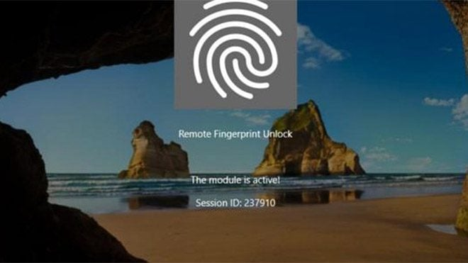 Remote Fingerprint Unlock parmak izi windows