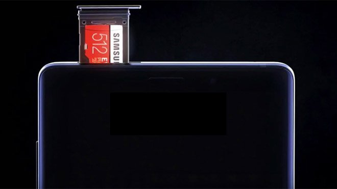 Samsung Galaxy Note 9 512 GB microSD kart
