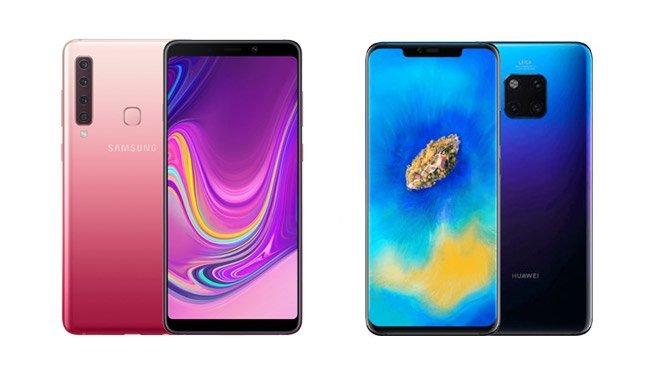 Samsung Galaxy A9 Huawei Mate 20 Pro