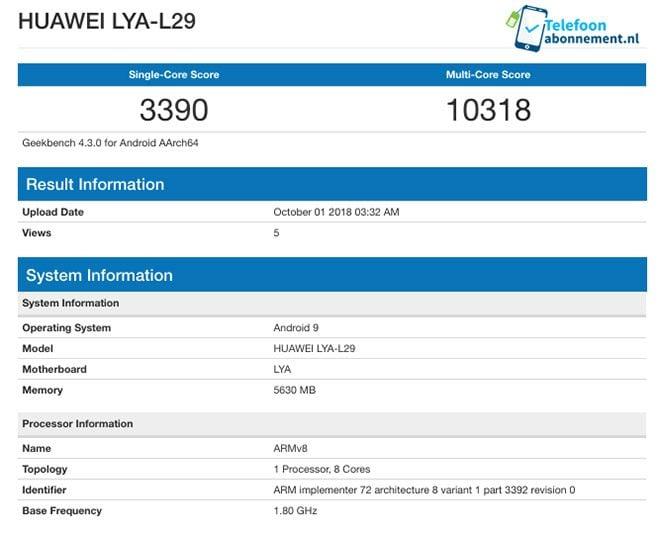 Huawei Kirin 980 Mate 20 Mate 20 Pro