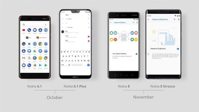 Nokia 6.1 / 6.1 Plus ve Nokia 8 / 8 Sirocco için Android 9.0 Pie müjdesi