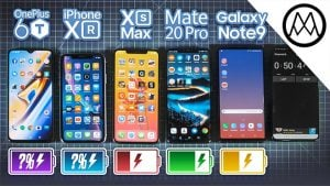 OnePlus 6T, iPhone XR, iPhone Xs Max, Mate 20 Pro ve Galaxy Note 9