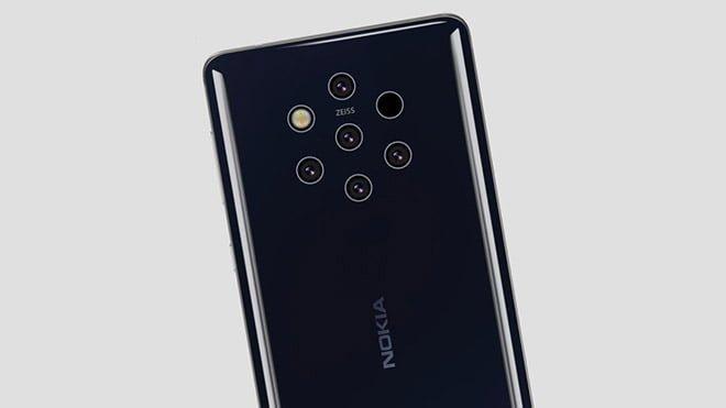 Beş arka kameralı Nokia 9 Pureview