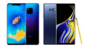 Huawei Mate 20 Pro Samsung Galaxy Note 9