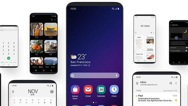 Samsung Galaxy Note 8, Galaxy S8, Galaxy S8+ One UI